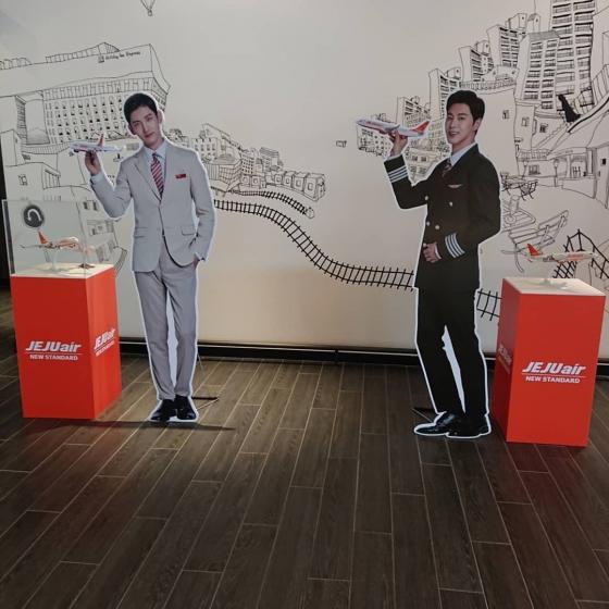 チェジュ航空(Jeju Air)のイメージキャラクターの東方神起