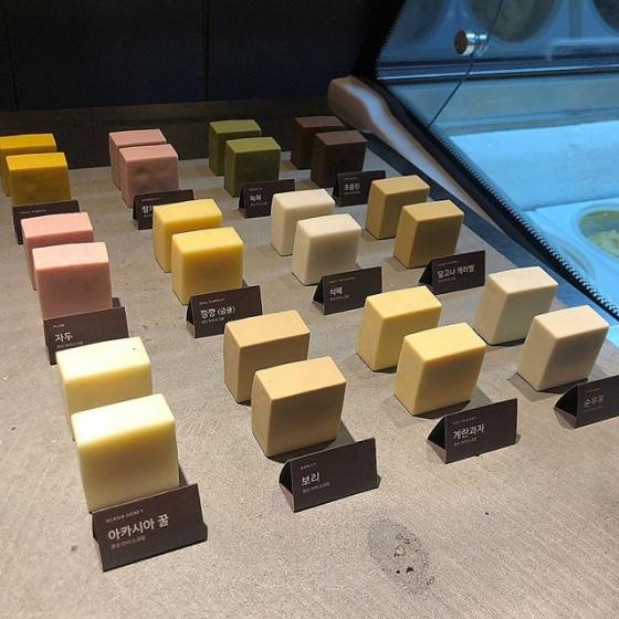 益善洞(イクソンドン)にあるSEOUL COFFEE(ソウルコーヒー/서울커피) キューブアイスクリーム 画像
