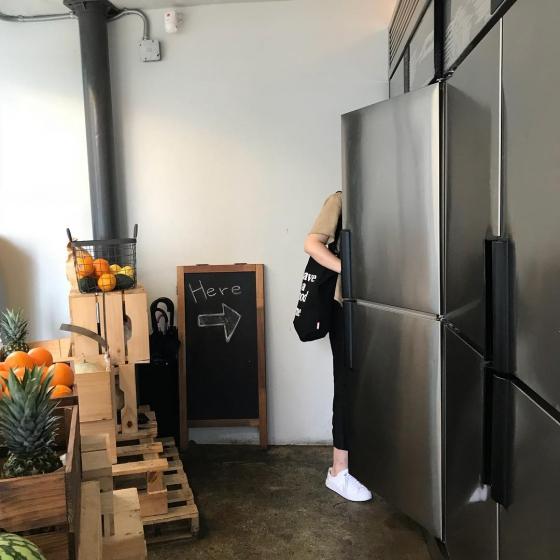 Jeanfrigo(장프리고)は冷蔵庫の入り口の画像