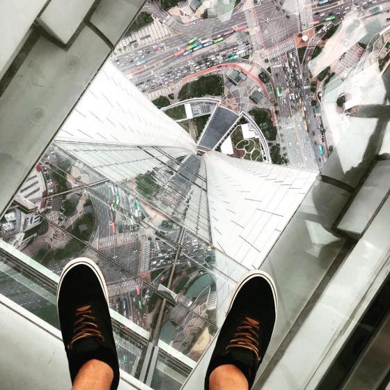ロッテワールドタワーのソウルスカイから見える夜景の画像