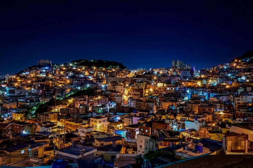 釜山(プサン)のおすすめ夜景スポット 虎川(ホチョン)村 の画像