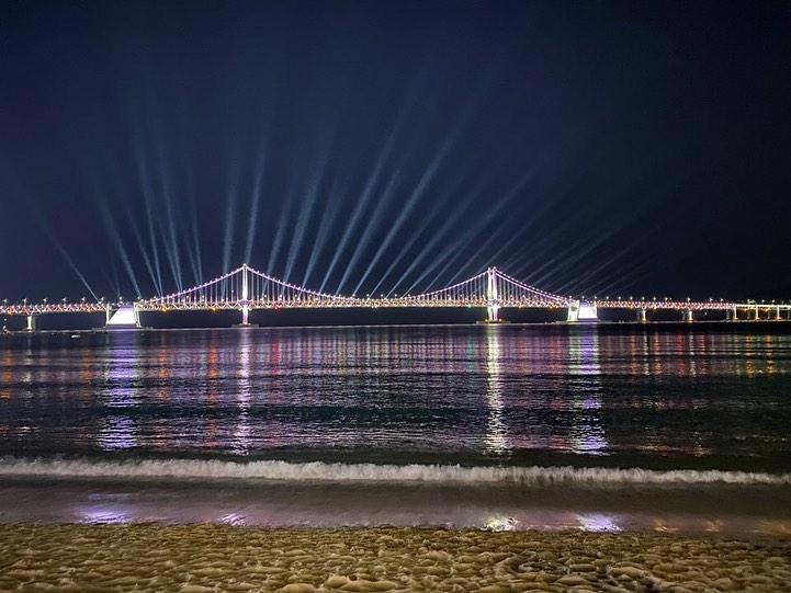 釜山(プサン)のおすすめ夜景スポット 広安里(クァンアンリ) 海水浴場 の画像