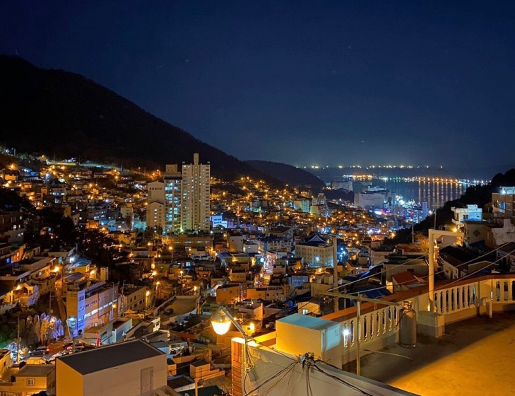 釜山(プサン)のおすすめ夜景スポット 甘川(カムチョン)文化村 の画像3
