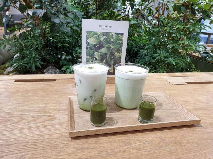 明洞(ミョンドン)で人気のフォトジェニックカフェinnisfree Green Cafe(イニスフリーグリーンカフェ)の画像2