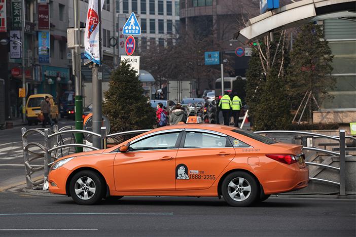 韓国タクシーの画像